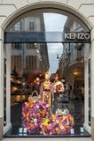 Kenzo boutique in Milan, Italy stock image