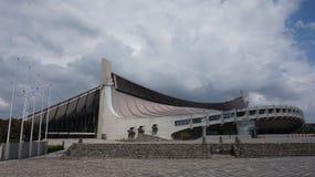 Kenzo Tange Olympic Stadium in Tokyo stock image