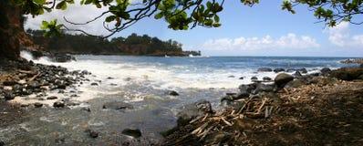 Keokea-Strand-Panorama Kapaau Hawaii Lizenzfreie Stockfotos
