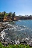 Keolea Bay coast, Big Island Royalty Free Stock Images