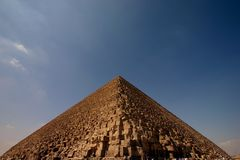 Keops pyramid. At cairo egypt Stock Images