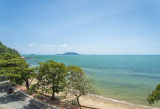 Kep海滩在柬埔寨 免版税库存照片