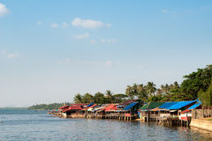 Kep Crab Market, Cambodia. This image shows the buildings of the Kep Crab Market, Cambodia Royalty Free Stock Photo
