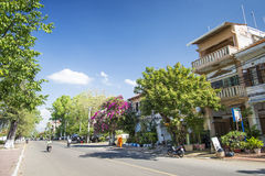Kep town centre street in cambodia Royalty Free Stock Image