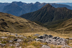 Kepler Mountains in Fiordland National Park Royalty Free Stock Photo