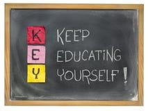 Kepp educating yourself - KEY Royalty Free Stock Photo