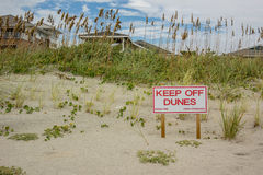Keep Off Dunes Sign Stock Images