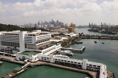 KEPPEL-BAAI, SINGAPORE, 10 December 2017: Jachthaven bij Keppel-Baai in Singapore Stock Fotografie