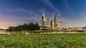 Keppel zatoka w Singapur Ten luksusowy nabrzeże mieszkaniowy Zdjęcia Royalty Free