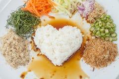 Kerabu или kao Nasi yum, рис Тайск-стиля Southen стоковое изображение