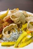 Kerabu de Nasi, alimento malasio Imagen de archivo