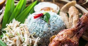 Kerabu de Nasi ou ulam de nasi