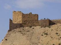 Kerak Castle. Jordan, as featured in the film Kingdom of Heaven stock image