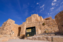 Kerak Castle, Jordan. It is recorded that the Crusader King Baldwin I of Jerusalem had the castle built in 1132 CE Royalty Free Stock Images