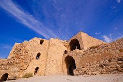 Kerak Castle, Jordan. It is recorded that the Crusader King Baldwin I of Jerusalem had the castle built in 1132 CE Royalty Free Stock Photo
