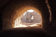Kerak Crusader Fortress, Jordan Royalty Free Stock Photography