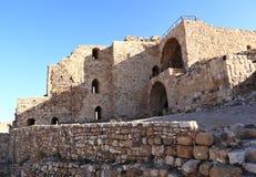 Kerak krzyżowa forteca, Jordania Obrazy Royalty Free