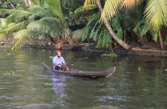 Kerala Backwater People Stock Photos