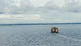 Kerala backwaters. Houseboat at the middle of keralas backwaters Stock Photos