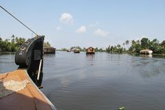 Kerala Backwaters Royalty Free Stock Images