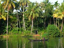 Kerala Backwaters, India Stock Photos
