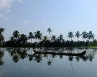Kerala Backwaters, India Stock Images