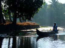 Kerala Backwaters, India Royalty Free Stock Photo