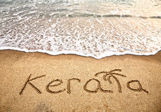 Kerala on the beach Royalty Free Stock Photography