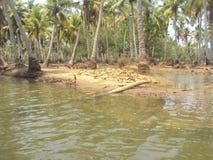 Kerala Côté de rivière photo libre de droits