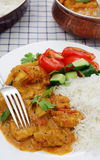 Kerala chicken curry vertical stock image