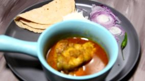 Kerala fish curry stock video