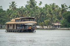 Kerala Houseboat Zdjęcia Stock