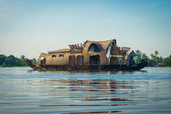 Kerala Houseboat in south India royalty free stock images