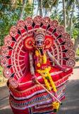 KERALA, INDIA - Januari, 17: Het festival van de Pooramtempel op Januari, Stock Foto