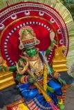 KERALA INDIEN - Januari, 17: Pooram tempelfestival på Januari, Royaltyfri Foto