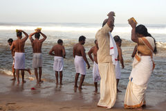 KERALA - JULY 30: Hindu pilgrims Stock Photography