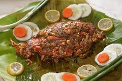 Kerala Karimeen Varuval, peixe frito de Kerala fotos de stock royalty free