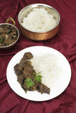 Kerala liver fry with rice Royalty Free Stock Photos