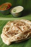 Kerala Paratha - gelaagd flatbread van Kerala stock afbeelding