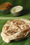 Kerala Paratha - a layered flatbread from Kerala Stock Image