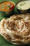 Kerala Paratha - a layered flatbread from Kerala Royalty Free Stock Image