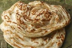 Kerala Paratha - płatowaty flatbread od Kerala obrazy stock