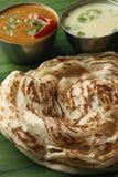 Kerala Paratha - płatowaty flatbread od Kerala obraz royalty free