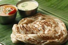 Kerala Paratha - płatowaty flatbread od Kerala fotografia stock