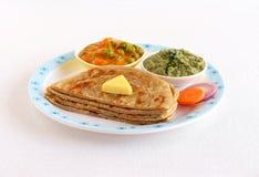 Kerala Paratha plasterki z masło polewą Fotografia Stock