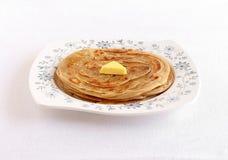 Kerala Paratha z masło polewą Obrazy Royalty Free