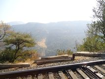 Kerala. Rail track kerala scenary images tree back ground Royalty Free Stock Image