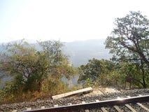 Kerala 2. Rail track kerala scenary images tree back ground Royalty Free Stock Photography