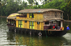 kerala riverboat Royaltyfri Bild