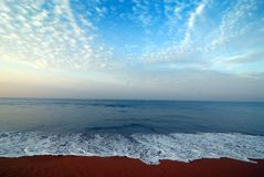 Kerala sea view. Sea view in Kerala, India Royalty Free Stock Photo